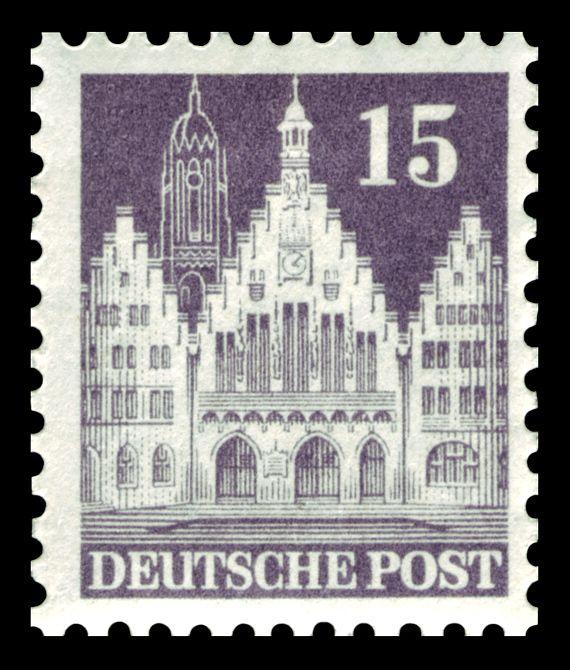 1946 German Deutsche Post 6 Pfennig Stamp Unused, XF or