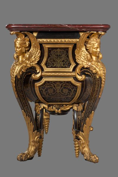 Commode De Louis Xiv A Trianon Andre Charles Boulle 1642 1732 Bati De Resineux Placage D Ebe Meuble Baroque Mobilier De Salon Decoration Baroque