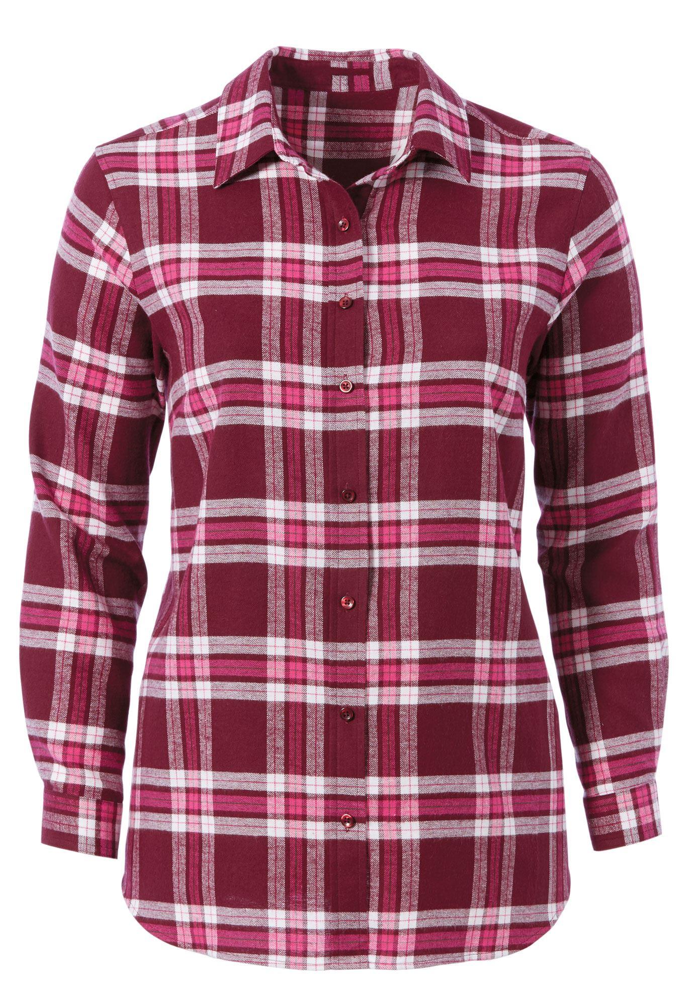 Flannel shirt plus size  Plaid Flannel Shirt by ellos  Womenus Plus Size Clothing  Products