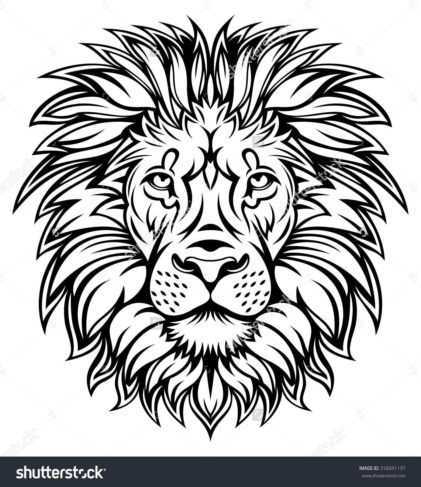 Line Drawing Lion Face : Line drawing lion head imgkid the image kid