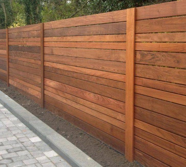 Image of horizontal fence panels style decorative garden