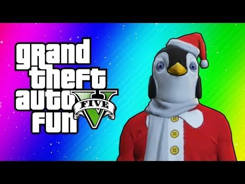 Gta 5 Online All Christmas Masks.Gta 5 Online Funny Moments Christmas Dlc Santa Claus