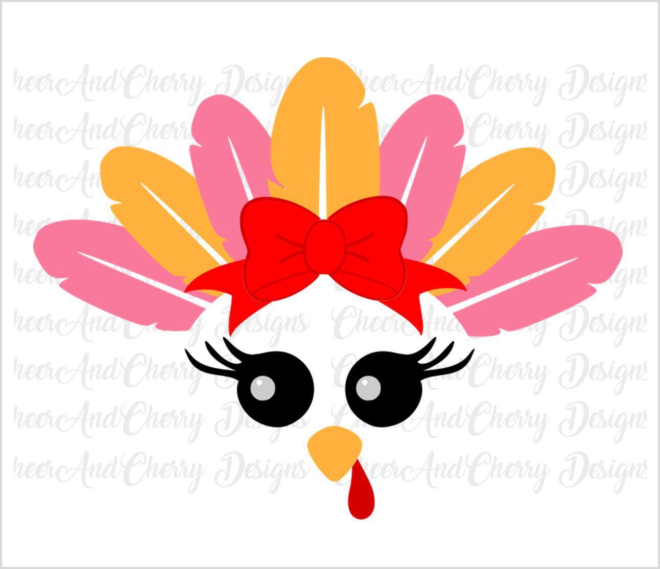 Turkey Face Svg For Girl Turkey Svg File For Cricut Etsy Svg Files For Cricut Svg Cricut