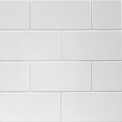 White subway tile for the surround