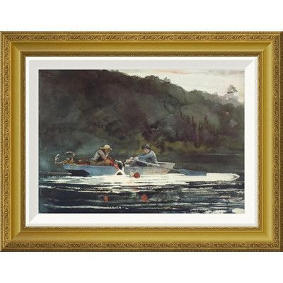 Global Gallery 'The End Of The Hunt' by Winslow Homer Framed Painting Print