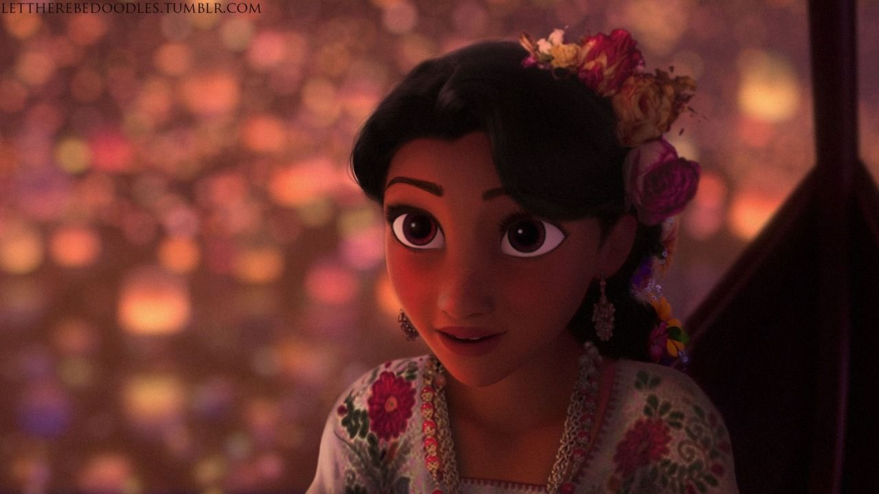 I think Rapunzel is far prettier like this than with blonde hair