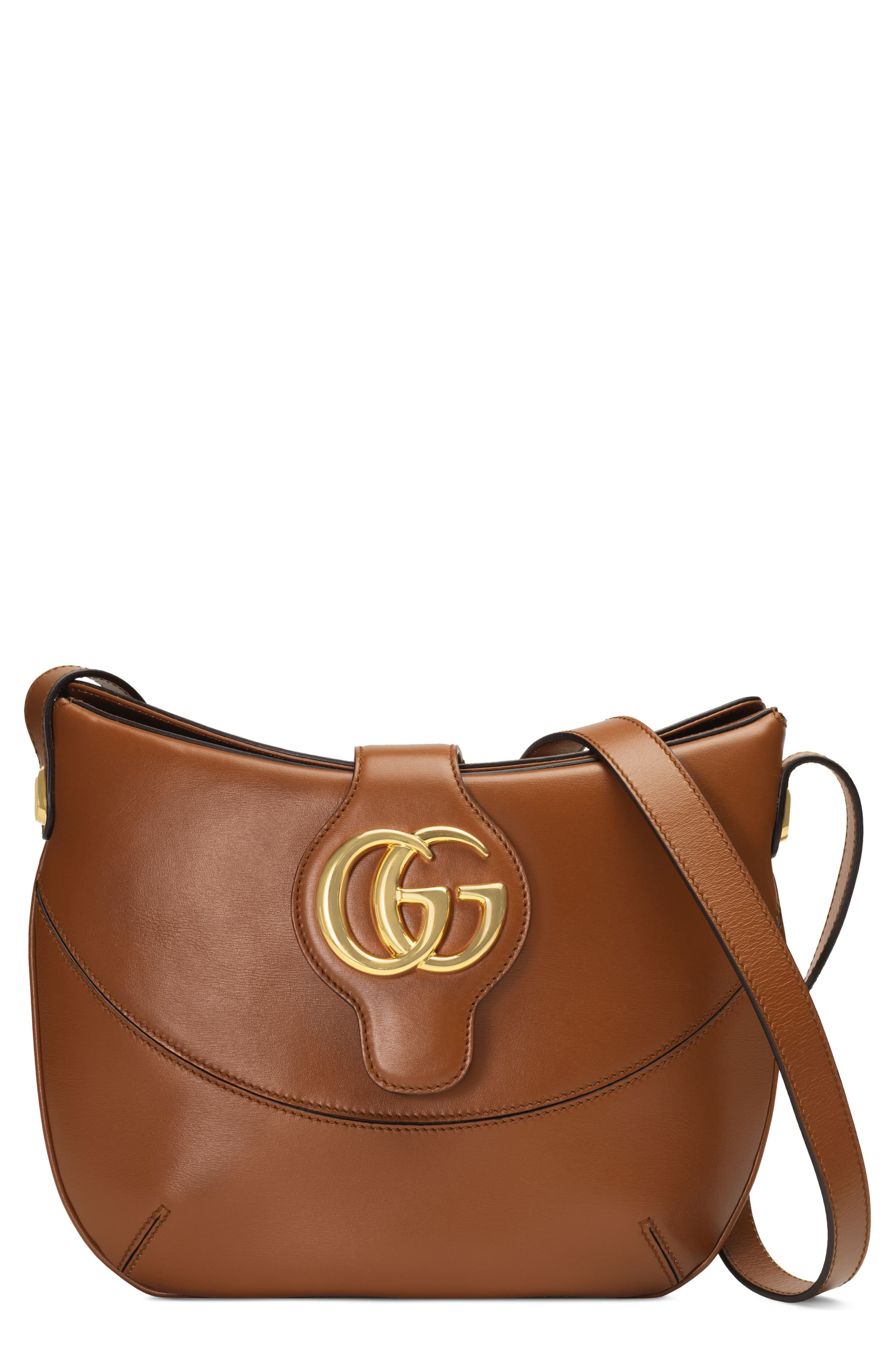 a6f7491fc Gucci Medium Arli Leather Shoulder Bag - Brown in 2019 | Products ...