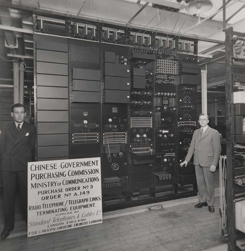 Radio telephone/telegraph links for the Chinese government, terminating equipment, 1934. IET Archives NAEST 211/02/07 C.1132