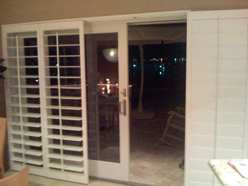 Sliding Glass Door Shutters Plantation Shutters Over Sliding Glass