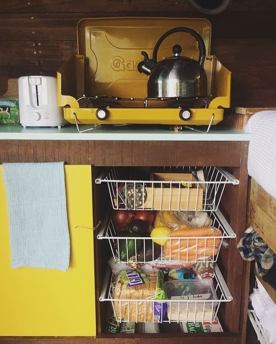 """Photo of Amy & Courtney on Instagram: """"Fat Pat's foot storage solutions, $15 baskets and some 2×4's, this was minimal effort and has maximum efficiency, plus it's not bad on the…"""""""