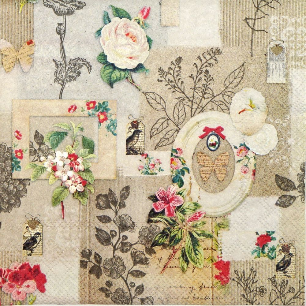 4x Paper Napkins for Decoupage Decopatch Craft It/'s Your Summer