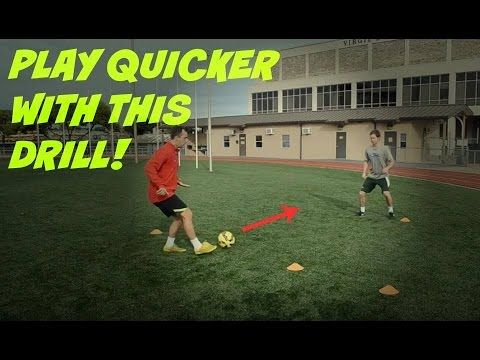 This Video Demonstrates A Great Drill To Improve Your Passing And Moving Many Players Struggle With Their Moveme Soccer Drills Soccer Workouts Soccer Practice