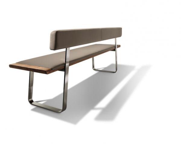 Sitzbank Esszimmer Mit Lehne nox bank metallkufen lehne 175 cm wozi sideboard