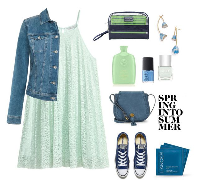 """Spring into summer..."" by gul07 ❤ liked on Polyvore featuring Tommy Hilfiger, Converse, Oribe, Jacki Design, Lancer Dermatology, Tory Burch, Nanette Lepore, NARS Cosmetics and Nails Inc."
