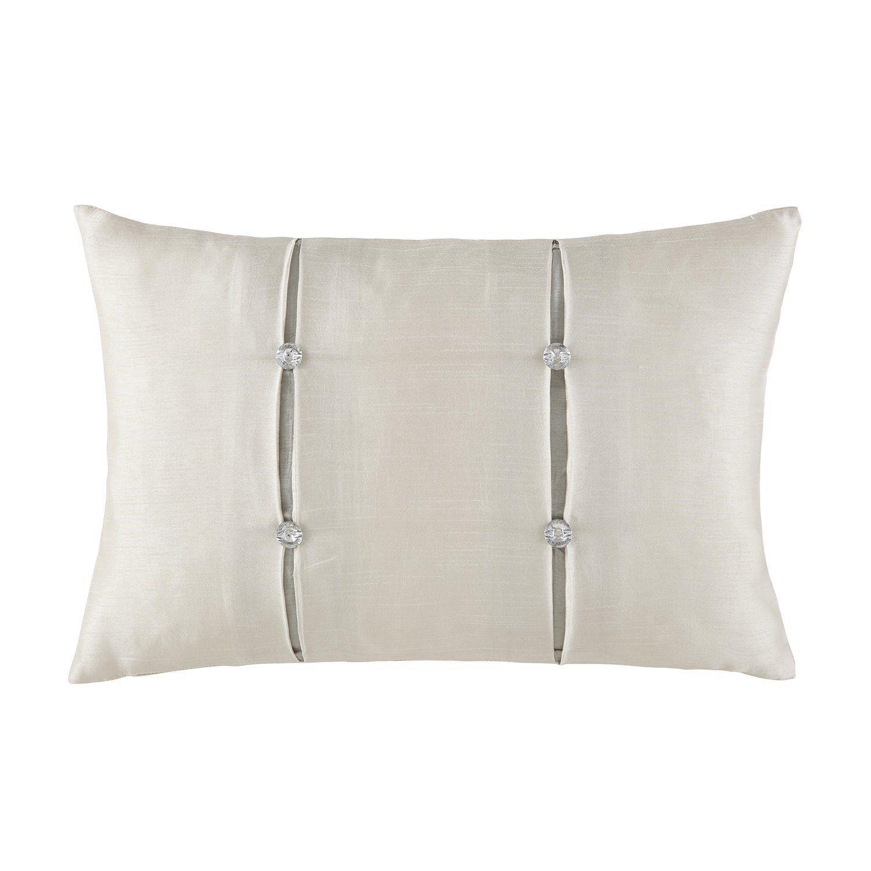 """Olivette Gold/Platinum Dec Pillow 12"""" x 18"""""""