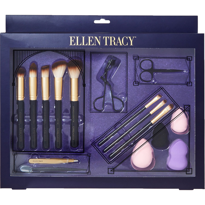 """Ellen Tracy"" Eight Piece Makeup Brush Set TK Maxx"