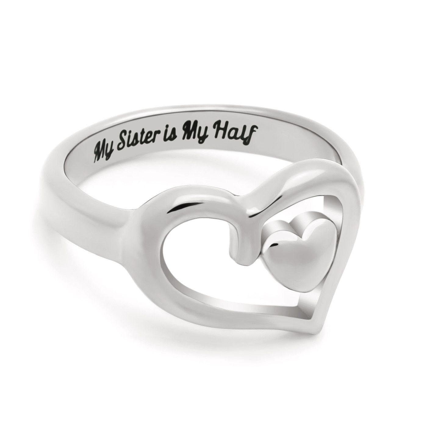 fb04171985 Double Hear Sister Ring, Promise Ring