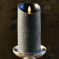 Moving Flame Black Glitter Candle Battery Operated 3 5 X 7 Timer Remote Ready Candles Glitter Candles Battery Operated Candles