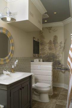 Bathroom With Urinal Dividing Half Wall Bathrooms Pinterest Half Walls Walls And Basements