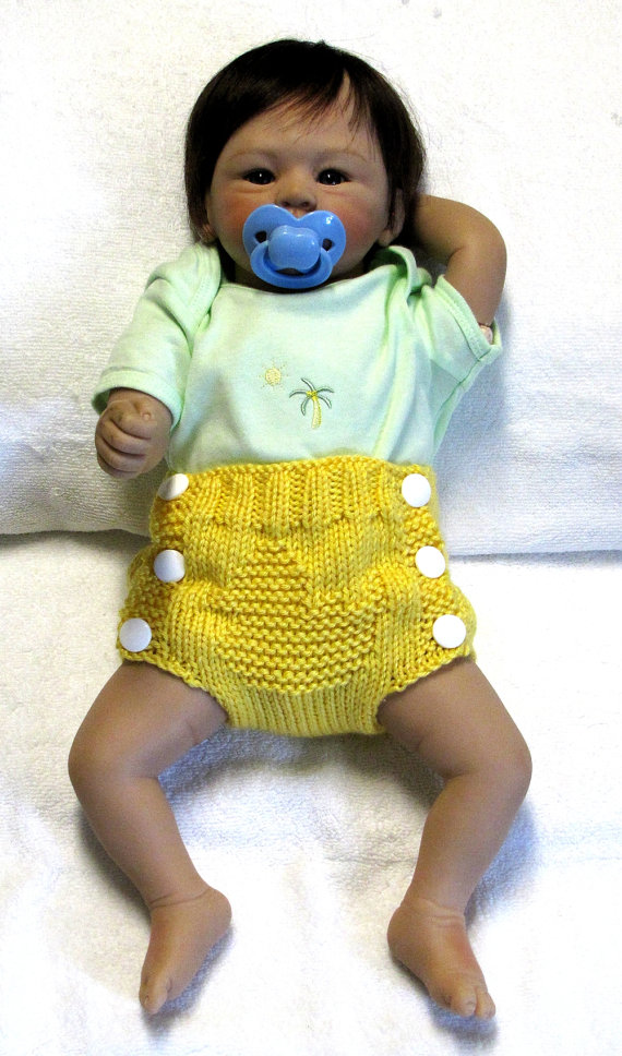 RUBBER DUCK - Diaper Cover Knitting Pattern - PDF - Small ...