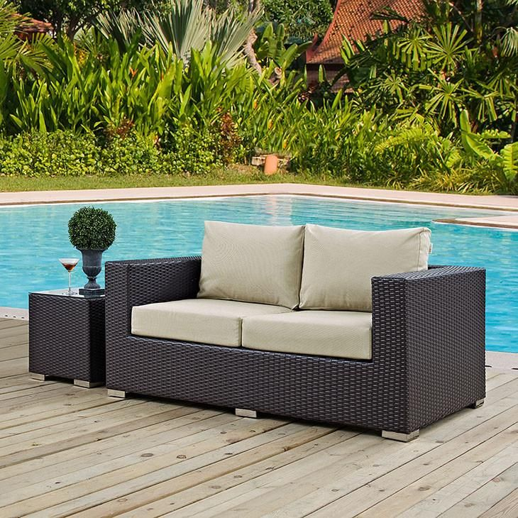 Modway Furniture Modern Convene Outdoor Patio Loveseat EEI