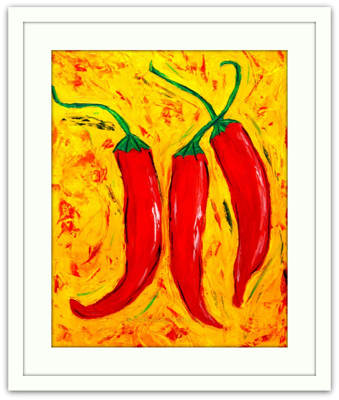 Chili Pepper Wall Art Sevenstonesinc