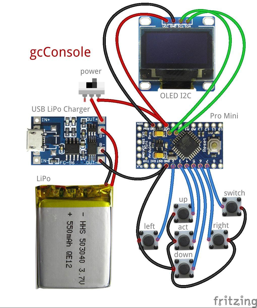 151-gcConsole — хардкорная игровая консоль на Arduino Pro
