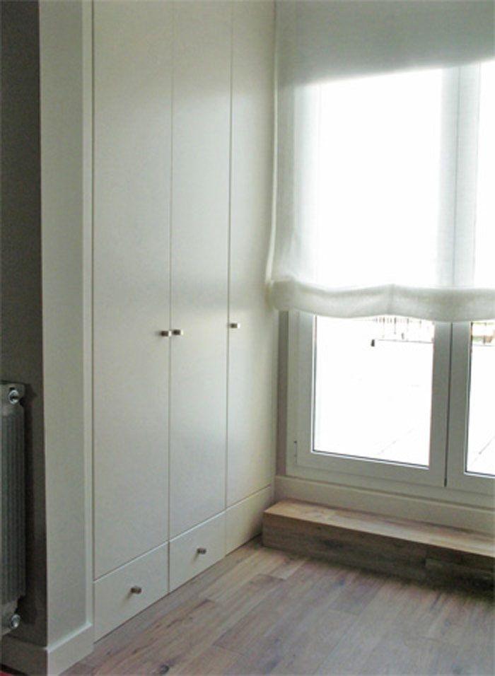 Armario empotrado dm lacado en barcelona basora - Muebles dormitorio barcelona ...