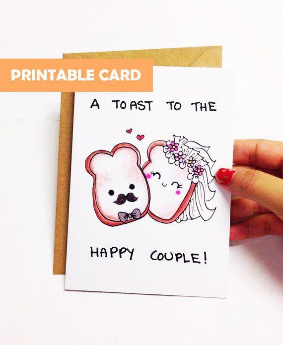 photo regarding Printable Wedding Card titled Printable marriage card humorous, humorous Wedding day Congratulations
