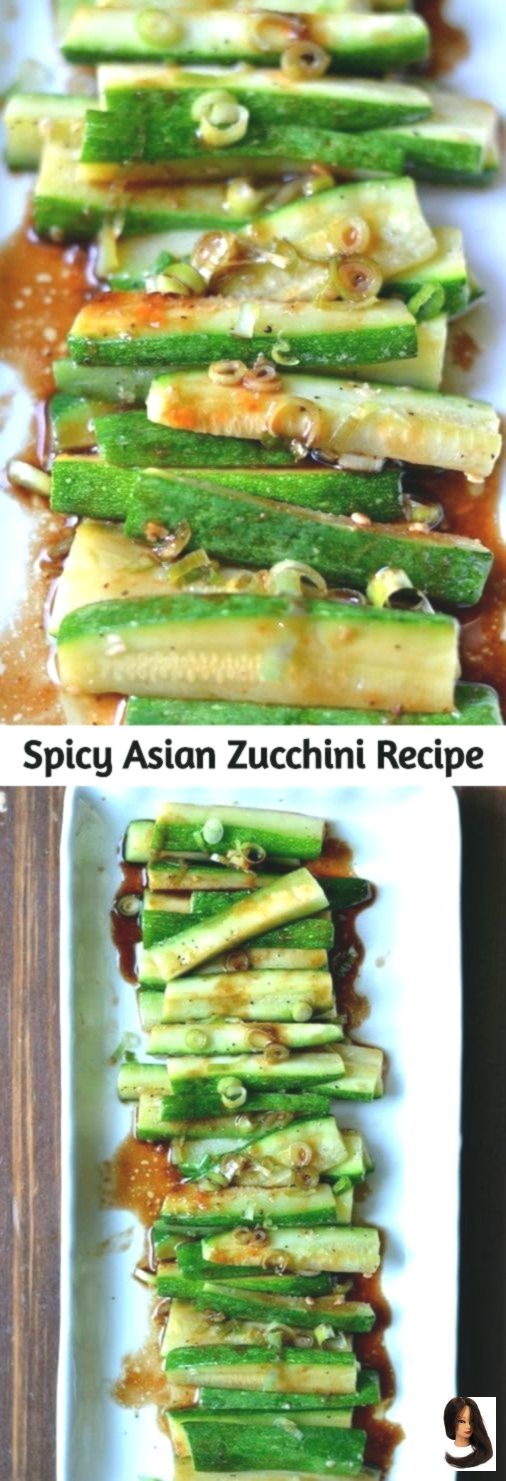 vegetarische gerichte Simple but full of flavor this Spicy Asian Zucchini is another wonderful healt Simple but full of flavor this Spicy Asian Zucchini is another wonder...
