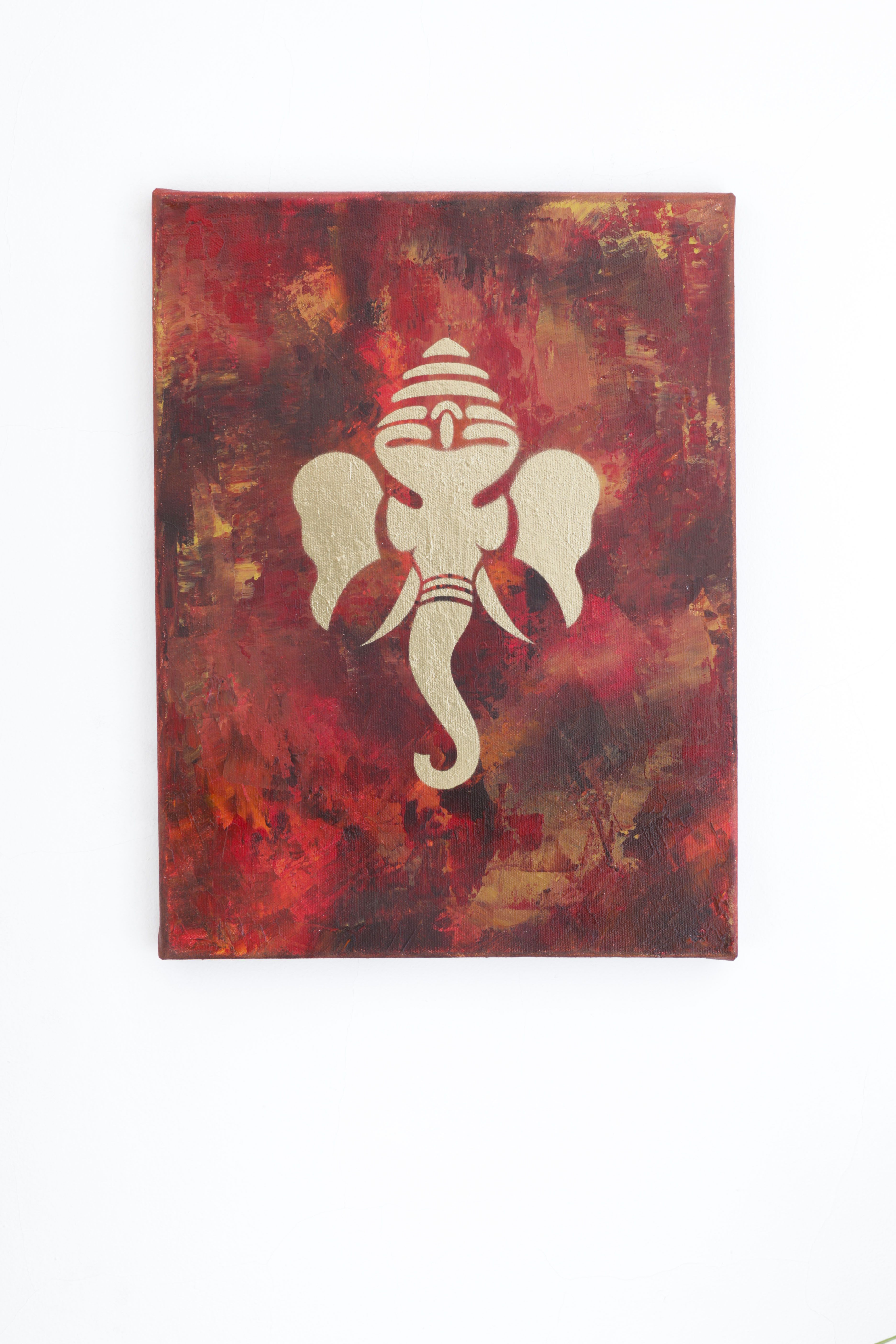 Lord ganesha multi color painting hd image - The Lord Ganesh Painting Which I Make See More Here Http