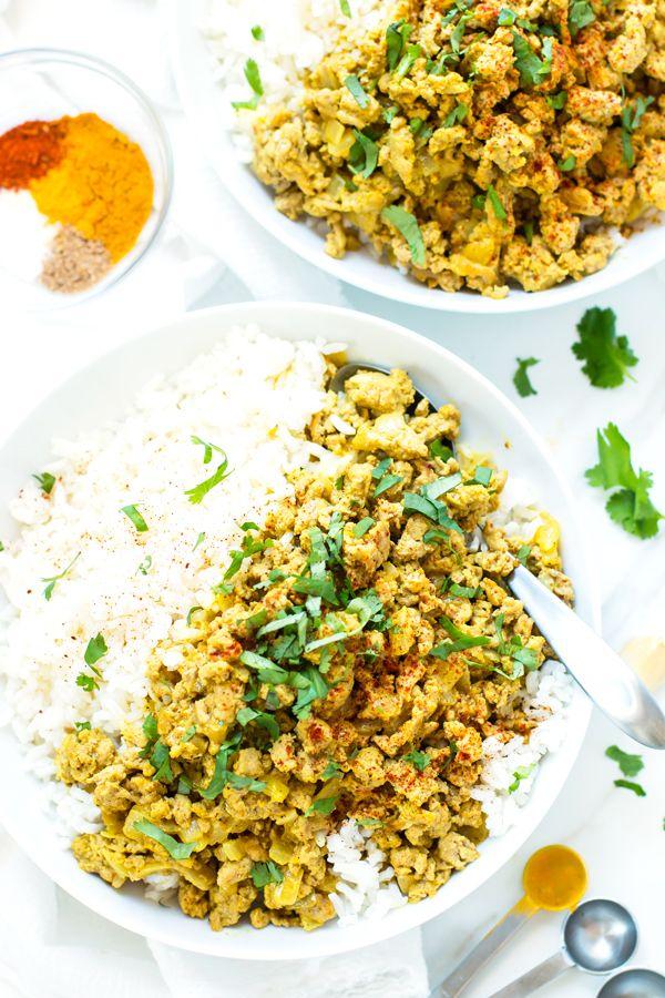 Easy Ground Turkey Curry | Recipe | Turkey mince recipes ...