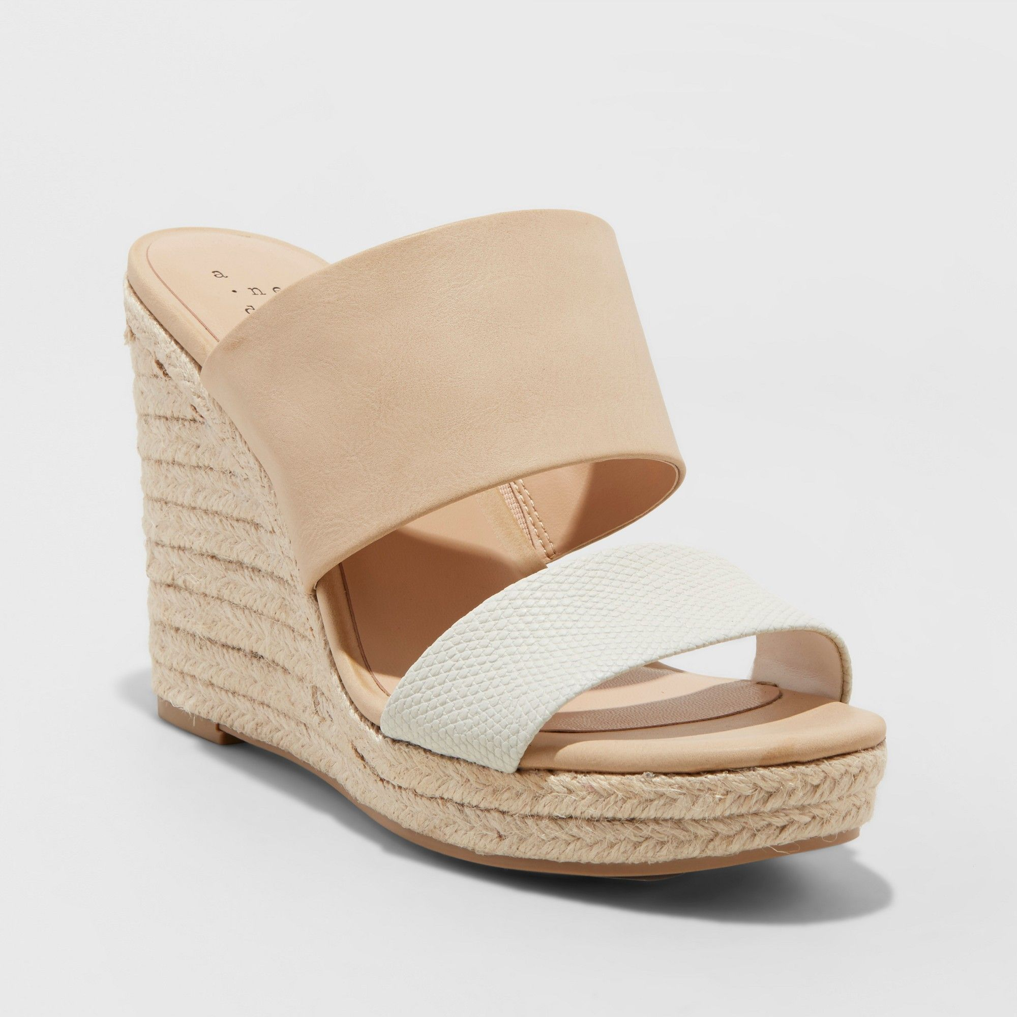 c7085243f8e Women s Adelina Two Band Espadrille Slide Sandals - A New Day Blush ...