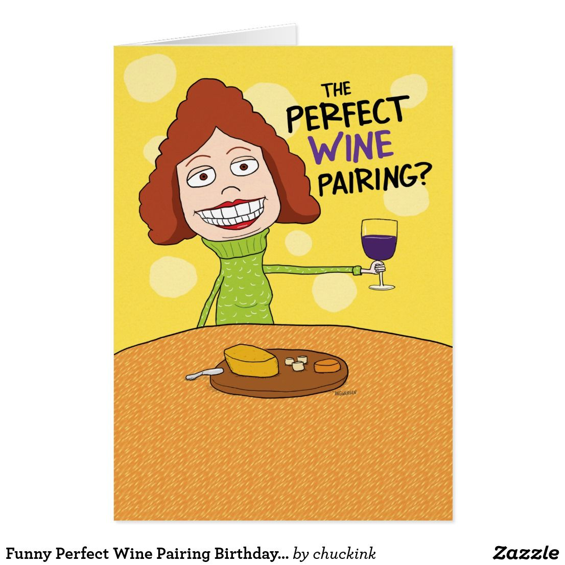 Funny perfect wine pairing birthday card for woman funny greeting funny perfect wine pairing birthday card for woman bookmarktalkfo Gallery