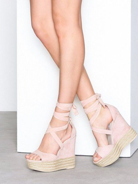 Lace Wedge Sandal | Pink wedge sandals