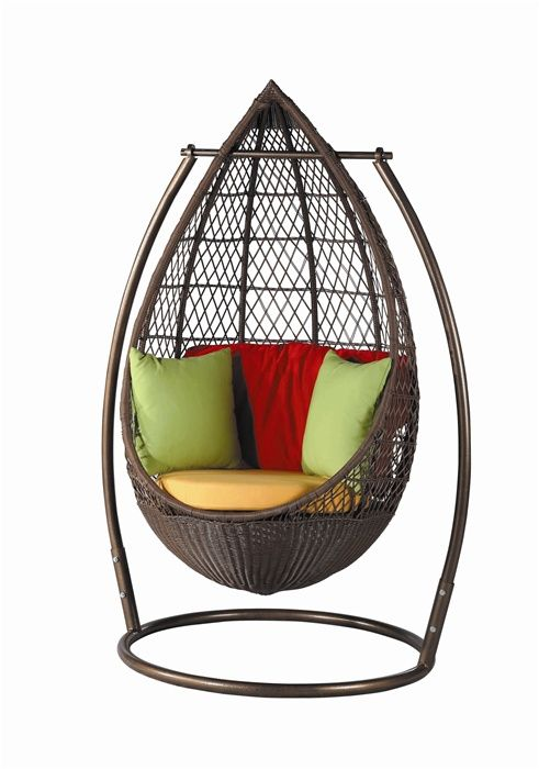 This Patio Hanging Egg Chair 445 Has An Incredible Teardrop Shape Hang Out This Summer In The Season S Hottest Hanging Egg Chair Hanging Chair Furniture