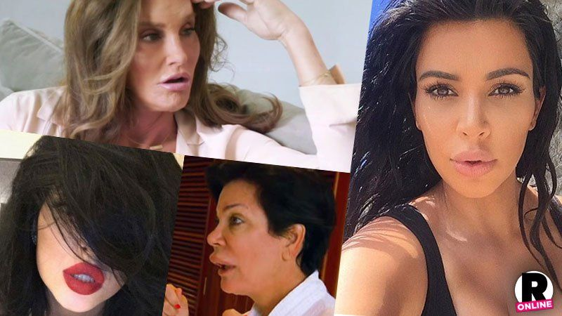 It's A Lip-Off! The Kardashians & Jenners Show Off Their Trout Pouts In 13 Shots –– Caitlyn, Kim, Kylie & More!