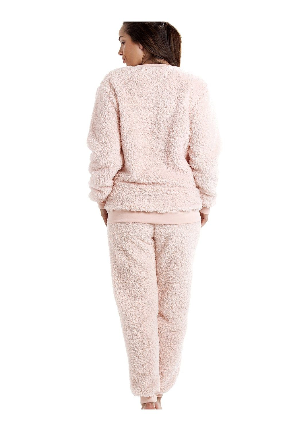 matching in colour provide plenty of select for latest Camille Pink Soft Fluffy Bear Pyjama Set | Quick Saves ...