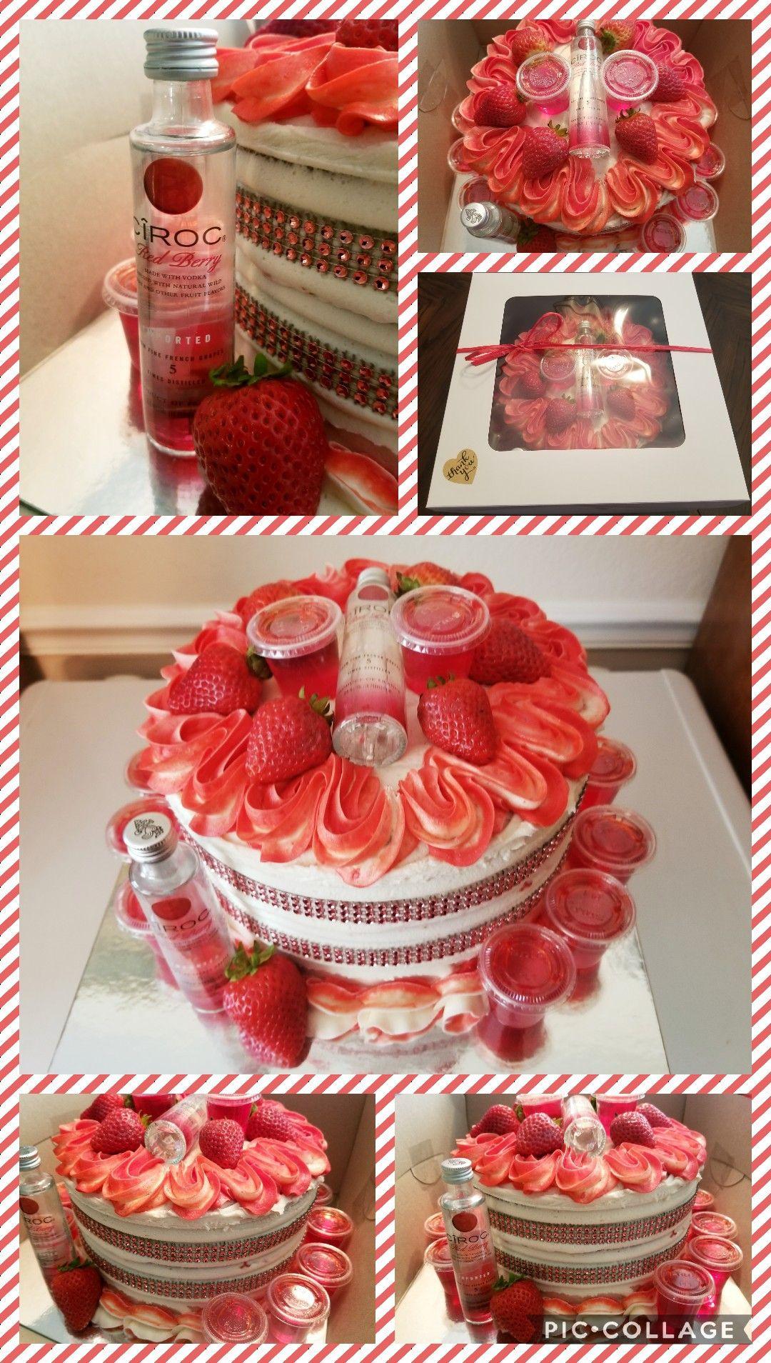 Ciroc Red Berry Birthday Cake With Strawberries Ciroc Mini S