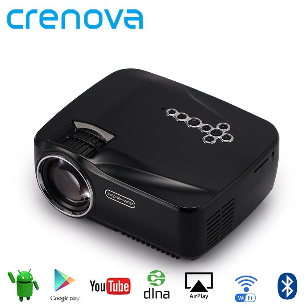 Crenova Android Wifi Bluetooth Projector Support Full Hd 1080p Benq Ms 506p Svga Multimedia Mini Portable Led For Home