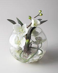 Sunken Orchid Faux Floral Arrangement