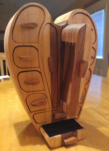 Wood Band Saw Box ~ Heart bandsaw box band saw pinterest