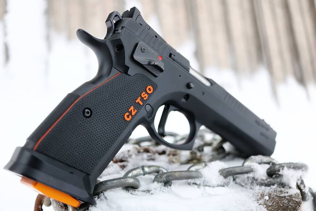 🍊 NOW AVAILABLE 🍊 CZ 75 Thin Checkered grips with a