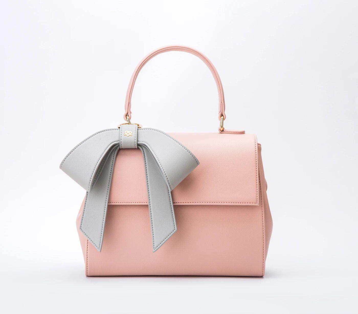 Vegan Leather Pink Cottontail Purse Gunas New York In 2020 Vegan Leather Shoulder Bag Vegan Leather Bag Vegan Bags