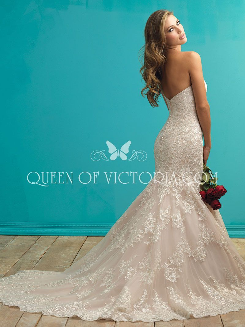 mermaid lace wedding dress strapless sweetheart neckline | Wedding ...