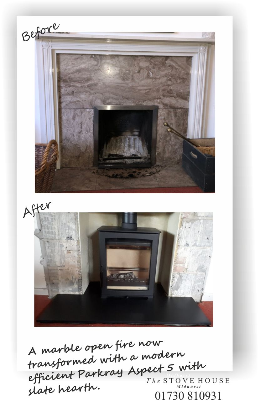 Parkray Aspect 5 Woodburning Stove Before After Pictures Stove