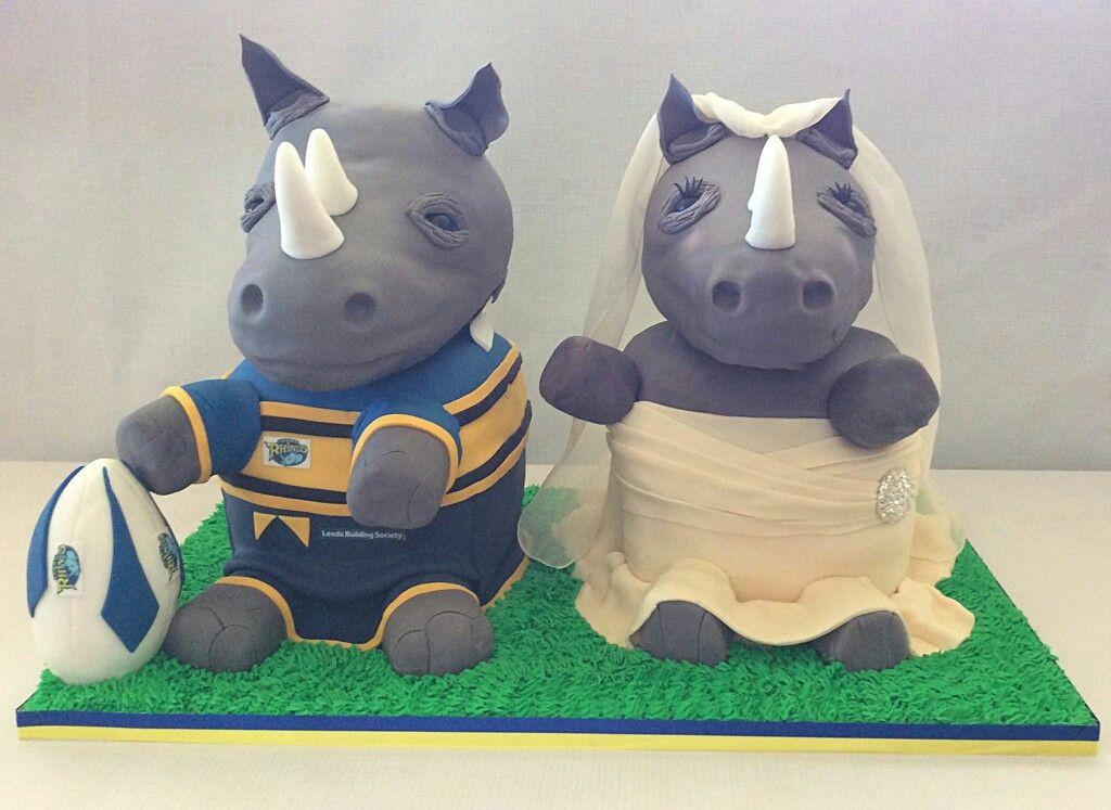 Leeds Rhino Supporters Wedding Cake