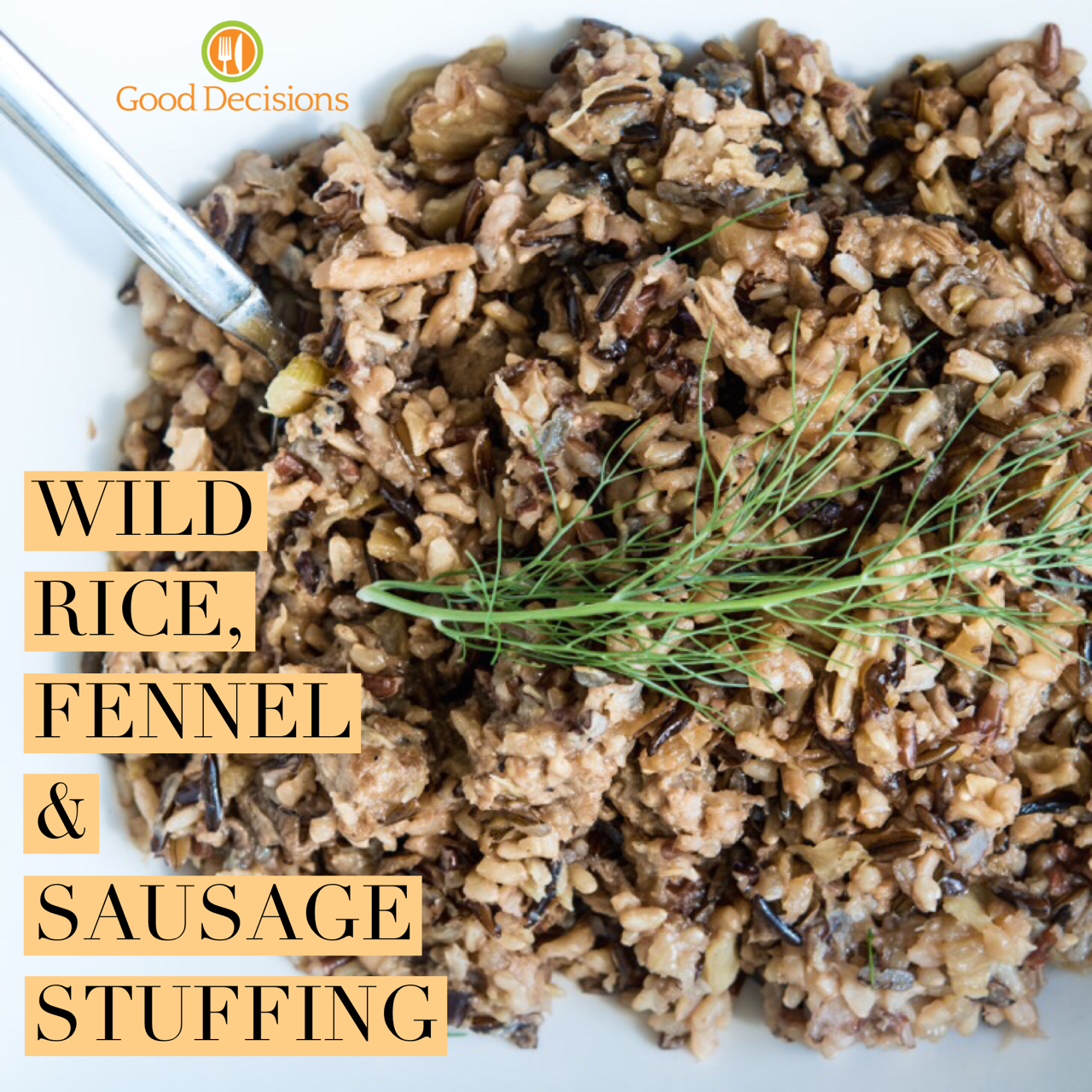 The addition of gas-reducing fennel in this gluten free wild rice stuffing makes it tummy-trouble free!