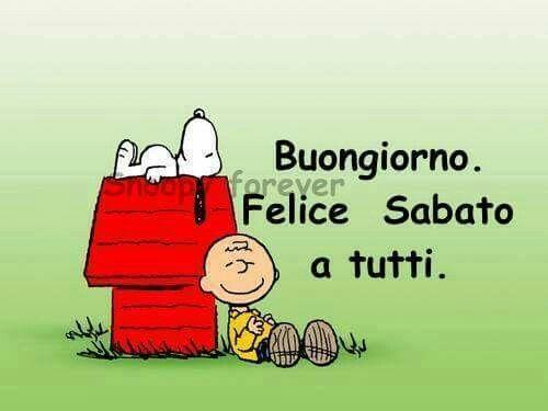Felice Sabato Snoopy Immagini Vignette