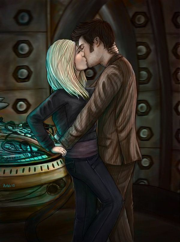 10th Doctor And Rose Tyler By Rosarosi Doctor Who Fan Art 10th Doctor Rose And The Doctor